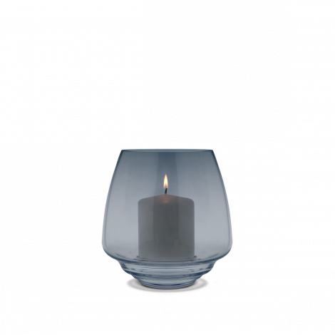 Holmegaard Flow Lysestake til Kubbelys Ø18,5 cm Blå