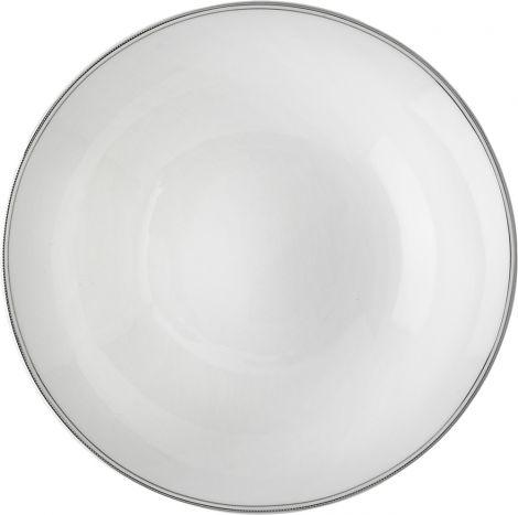 Wik & Walsøe Fnugg dyp tallerken 20cm Hvit/sølv
