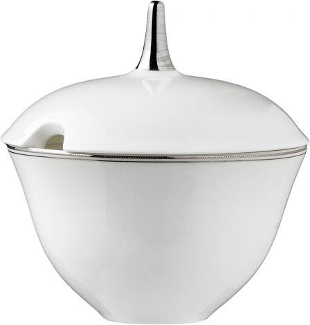 Wik & Walsøe Fnugg sauseterrin m/skål 14cm Hvit/sølv