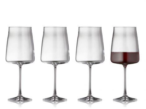Lyngby Glass Crystal Zero Rødvinsglass 4stk