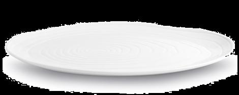 Pillivuyt Boulogne Tallerken Oval Hvit - 36 cm