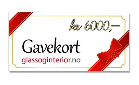 Gavekort 6000 kr