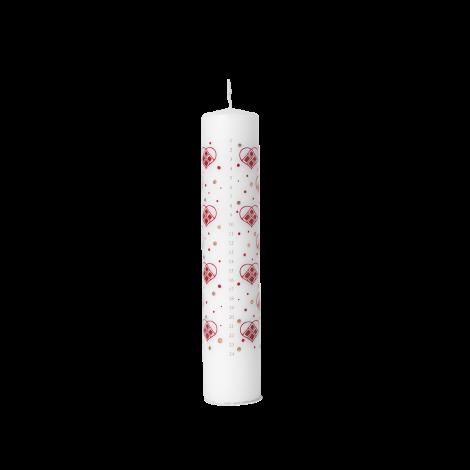 Bjørn Wiinblad Kalenderlys Rød/ Hvit Ø5 cm