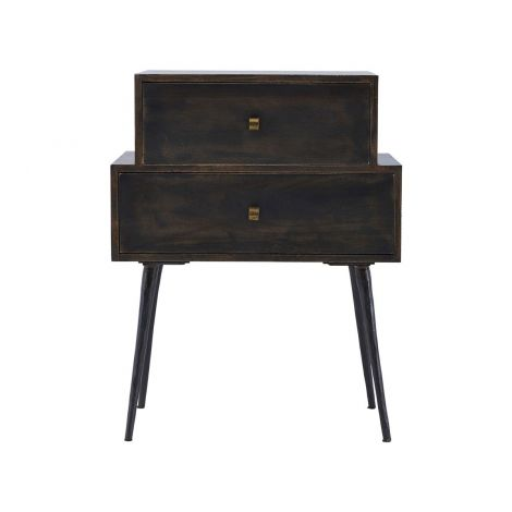 House Doctor Console bord med Drawers Club Black Stain