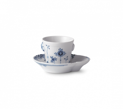 Royal Copenhagen Blue Elements Espressokopp med Tallerken 9cl. Levering juni -21.