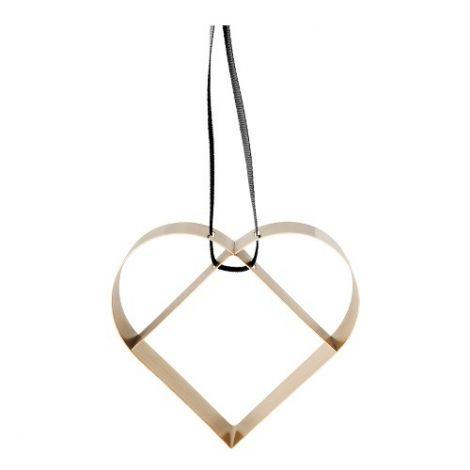 Stelton Figura Ornament Heart Large Messing