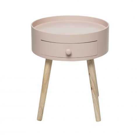 Bloomingville First Side Table Pink MDF. Levering i slutten av mai.