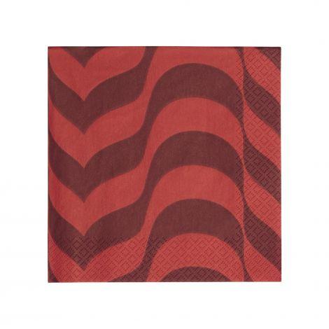 Iittala serviett 33x33cm plomme/rød 20pk