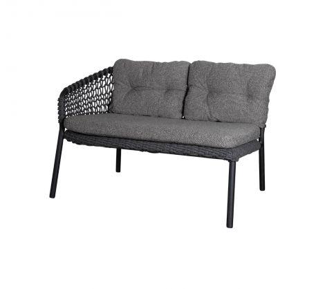 Cane-line Ocean sofa 2 seter høyre modul Mørk Grå