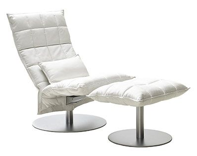 Woodnotes K-Chair Narrow Swivel Leather