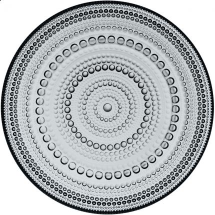 Iittala Kastehelmi tallerken grå 170mm