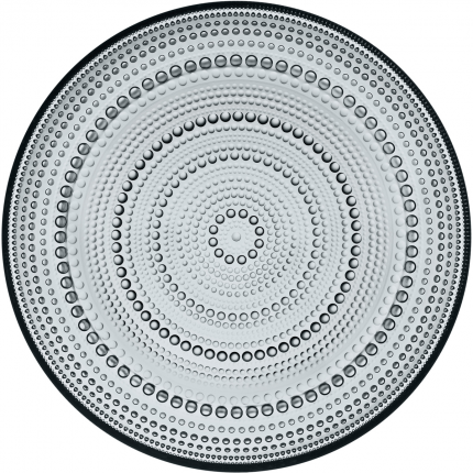 Iittala Kastehelmi tallerken grå 248mm