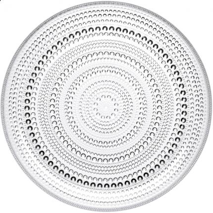 Iittala Kastehelmi tallerken 248mm klar