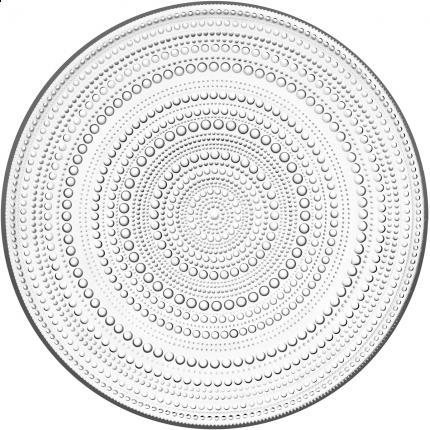 Iittala Kastehelmi tallerken fett 315mm klar