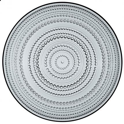 Iittala Kastehelmi tallerken grå 315mm