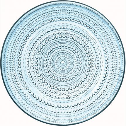 Iittala Kastehelmi tallerken lysblå 315mm