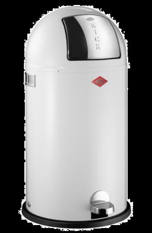 Wesco Kickboy Pedalbøtte Hvit - 40 liter