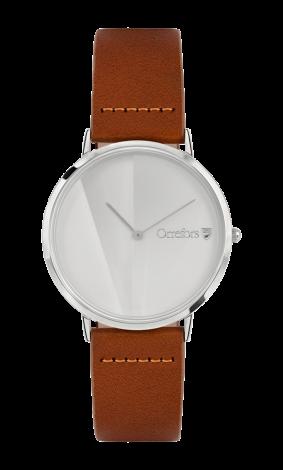 Orrefors O:TIME Konjakk/Hvit Klokke