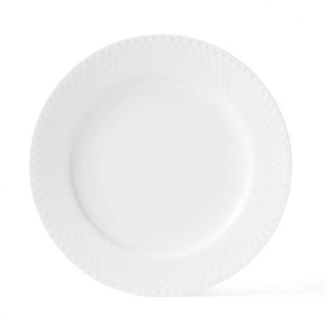 Lyngby Rhombe Tallerken 21 cm Hvit