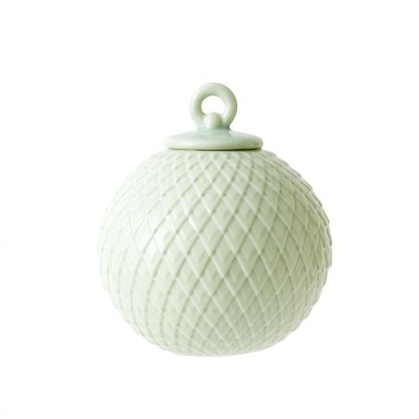 Lyngby Rhombe Kule Soft Grønn 7 cm