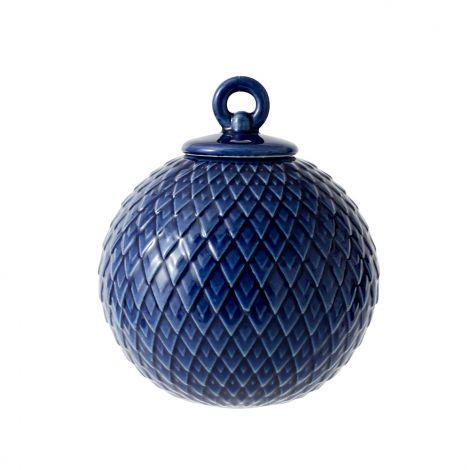 Lyngby Rhombe Kule Mørk Blå 7 cm