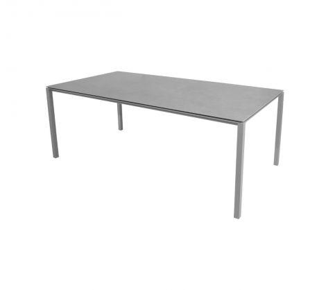 Cane-line Pure spisebord Aluminium-base Lys Grå 200x100cm