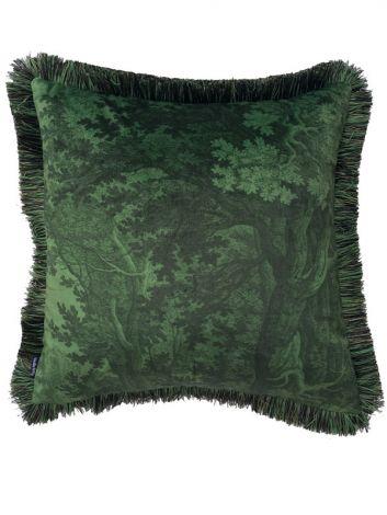 Vanilla Fly Putetrekk Green Woods 50x50 med frynser