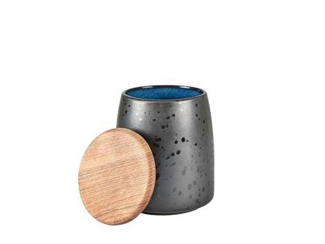 Bitz Jar med lokk Svart / Mørkeblå 16,5 cm