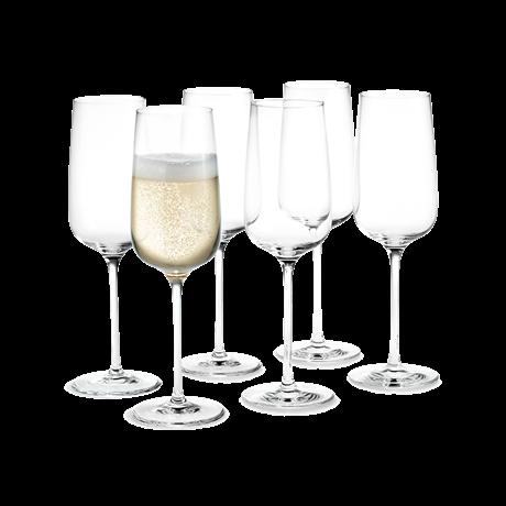 Holmegaard Bukett Champagneglass 6stk