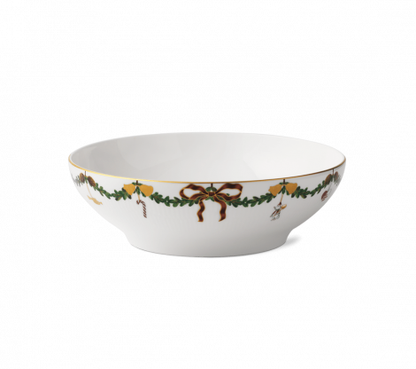 Royal Copenhagen Stjerne Riflet Christmas Bowl 220 cl. Levering mai -21.