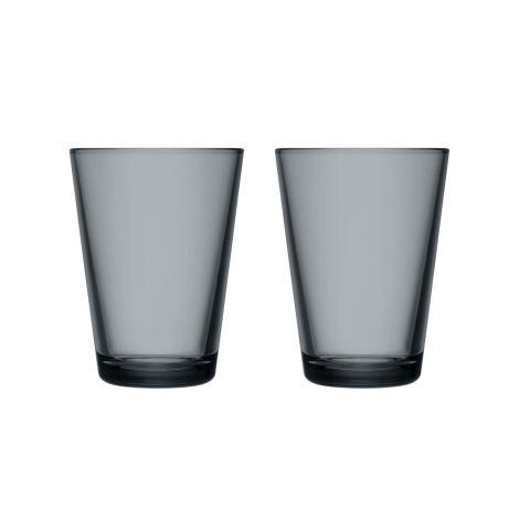 IIttala Kartio glass 40cl mørk grå 2-pk