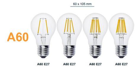 CTB Edison Lyspære dimbar A60 8W E27 varm hvit