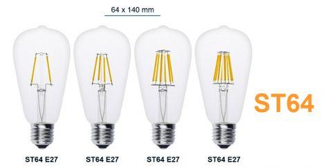 CTB Edison Lyspære dimbar ST64 12W E27 varm hvit
