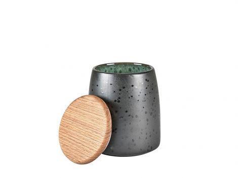 Bitz Krukke med lokk Sort / Grønn 16,5cm