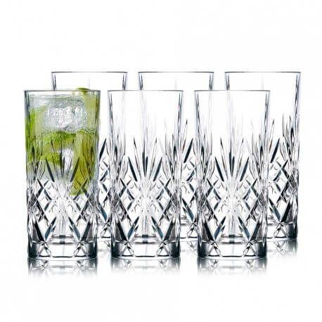 Lyngby Glass Melodia highball  36cl 6 stk krystall