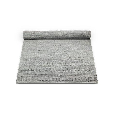 Rug Solid Bomullsteppe Lys Grå Flere Størrelser