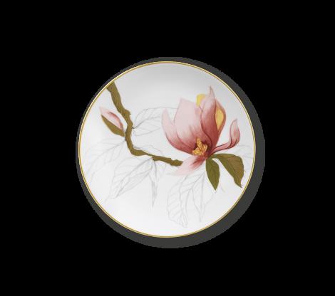 Royal Copenhagen Flora Flat Plate Magnolia 19 cm. Levering april -21.