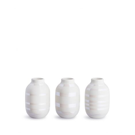 Kähler Omaggio Vase Perlemor 3 stk 8 cm