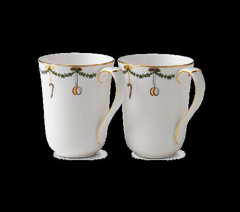 Royal Copenhagen Stjerne Riflet Christmas Mug 2 stk 33 cl