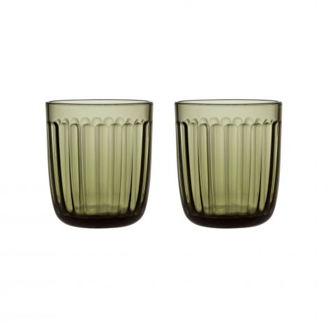 Iittala Raami glass 26cl mosegrønn 2-pk