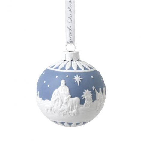 Wedgwood Christmas Nativity Bauble Ornament