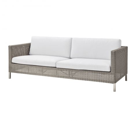 Cane-line Connect 3 seter lounge sofa hvit. Levering i slutten av juni.