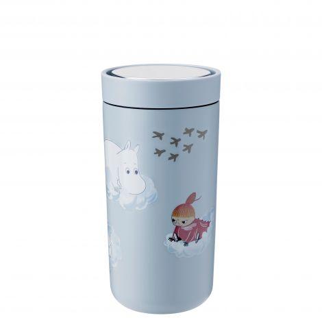 Stelton To Go Klikk Termokopp Moomin Skyblå 0,4 L