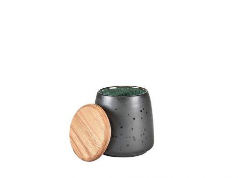 Bitz Krukke med lokk Sort / Grønn 12cm
