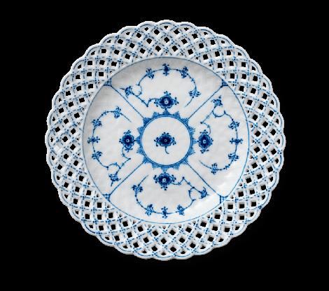 Royal Copenhagen Musselmalt Full Lace Tallerken 25 cm
