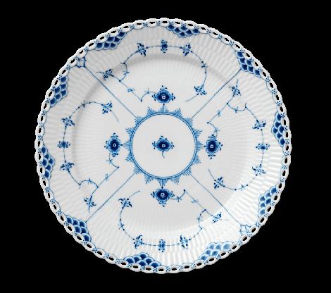 Royal Copenhagen Musselmalt Full Lace Tallerken 27 cm