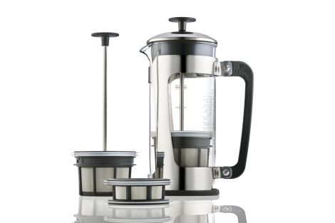 Espro P5 Stempelkanne 4 kopper, stål / glass, te