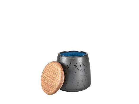 Bitz Jar med lokk Svart / Mørkeblå 12cm