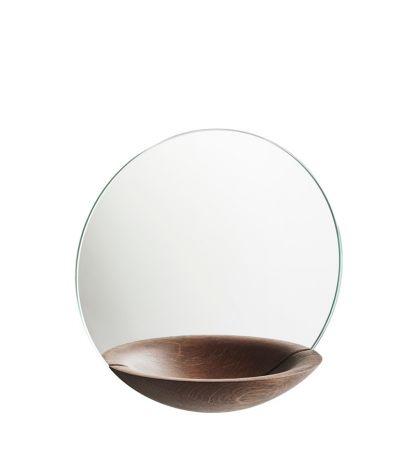 Woud Pocket Mirror, stor røkt eik 32 cm