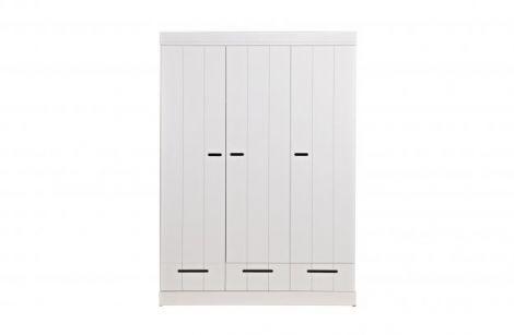 WOOOD Connect 3-dørs grunnleggende-skuff- stripe dører førerhus hvit